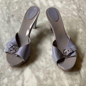 Burberry platform slide sandals